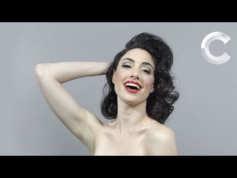 Watch a woman show what 100 years of beauty in 1