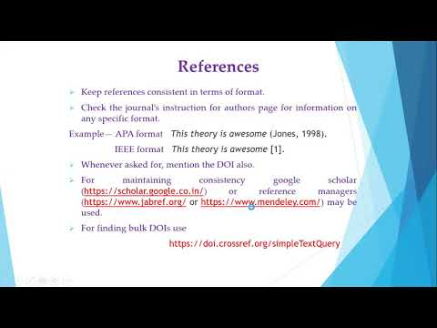 Research article writing and referencing Part III