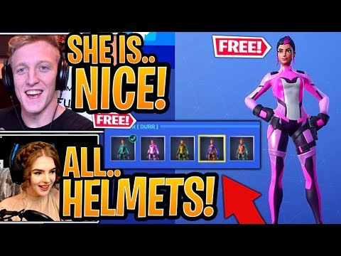 "Streamers GET The New *FREE* ""SINGULARITY"" Skin Colors & *UNLOCK* ALL Helmet Locations - Fortnite"