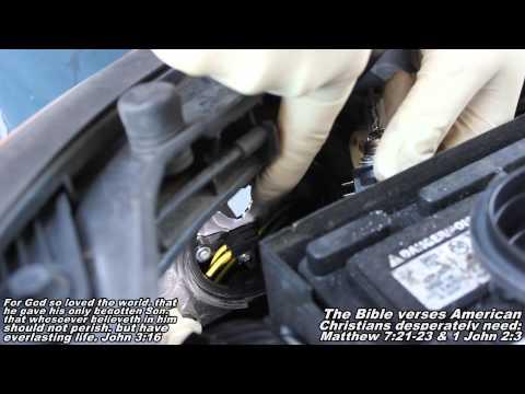 Headlight Bulb Remove Replace 07-10 Hyundai Elantra