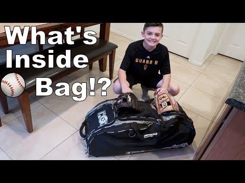 What's in Mason's New Baseball Bag?