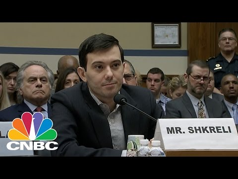 Martin Shkreli Pleads the 5th, Smiles at Congress