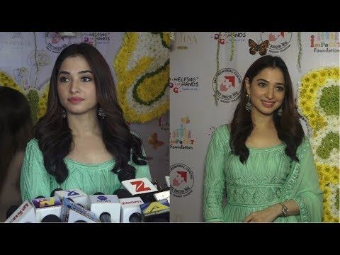 Tamanna Bhatia Say's She's In Mumbai This Diwali At Inauguration Of Fund Raiser Event For Cancer