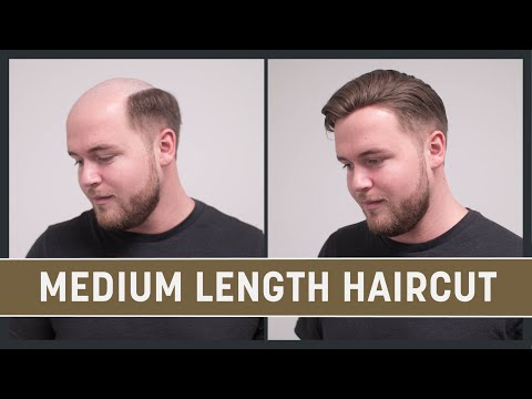 Medium Length Haircut for Men | Spring Summer Hairstyle 2017 mit Haarteil