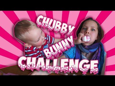 CHUBBY BUNNY CHALLENGE. Тухлый Кролик.Настя и Вова (видео)