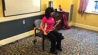 Diagonal pull apart - resistance band
