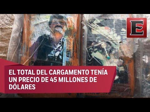 """Incautan en Perú una tonelada de cocaína con las fotos de """"El Chapo"""" Guzmán"""