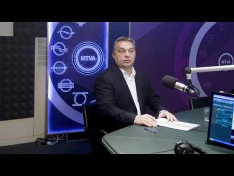 Orbán Viktor miniszterelnök a Kossuth Rádió 180 perc című műsorában.