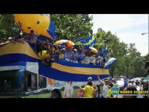 La previa de la caravana al gallinero - La 12 - Boca Juniors