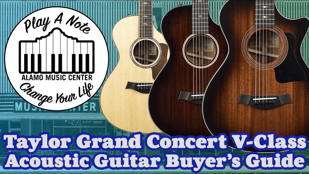 Taylor V-Class Grand Concert Acoustic Guitar Buyer's Guide and Comparison – 11 Guitars Total!