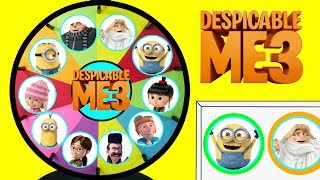 Despicable Me 3 Spinning Wheel Game Punch Box Toy Surprises Minions