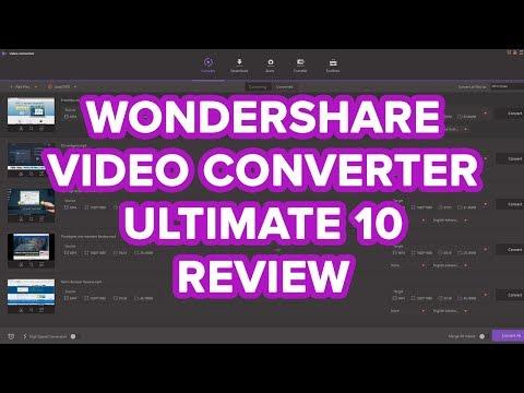 Wondershare Video Converter Ultimate 10 Review - Video Converter Software