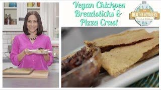 Vegan and Gluten Free Chickpea Breadsticks and Flatbread Recipe