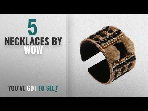 Top 10 Wow Necklaces [2018]: Handmade Artificial Bracelet Jet Black And Cream Pink Color-