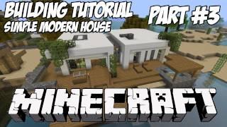 Minecraft Tutorial HD: Simple Modern House 1 - Part 3 (Interior)