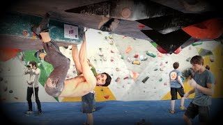 Uncut: Nathan Phillips on the roof by OnBouldering