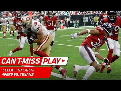 Video: San Fran Pulls Ahead w/ Jimmy Garoppolo's TD Toss to Garrett Celek! | Can't-Miss Play | NFL Wk 14