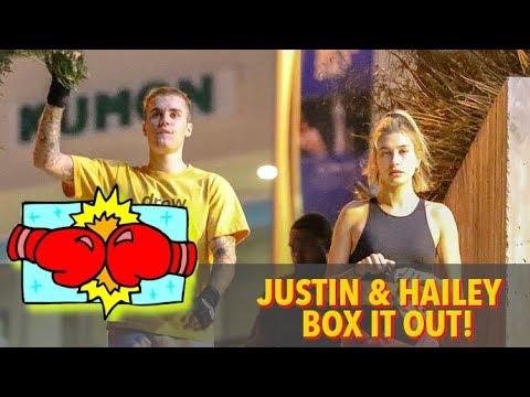 Justin Bieber And Hailey Baldwin Sweat It Out At Couples Boxing Class
