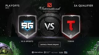 SG vs Torus, The International SA QL, game 1 [Mortalles, Lum1Sit]