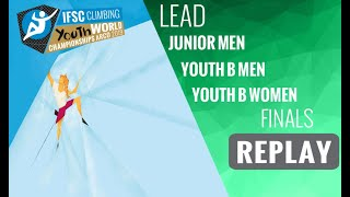 IFSC Youth World Championships - Arco 2019 - LEAD - Finals -Youth B Men -Youth B Women -Junior Men by International Federation of Sport Climbing