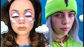 UP IN THE CLOUDS MAKEUP + BILLIE EILISH REVIEW by Kat Sketch