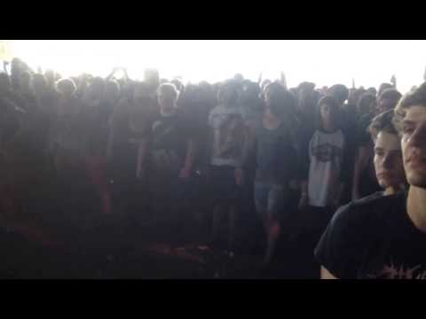 Suicide Silence Crazy Wall Of Death @ Adelaide Soundwave 2014