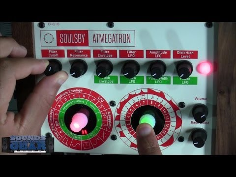synth - http://SoundsAndGear.com - checking out the brand new Atmegatron synthesizers from Soulsby. It's a crazy little desktop synth with tons of waveforms, 15 filt...