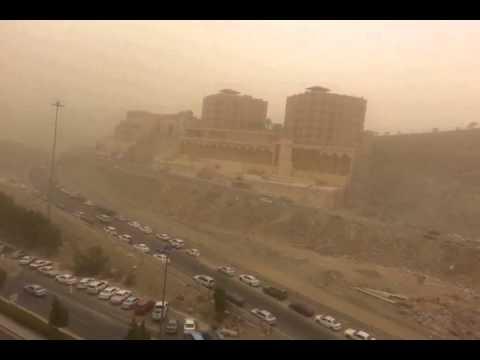شاهد عاصفة الان تضرب مكة المكرمة 1437عدسة المصور:  بندر الزهراني