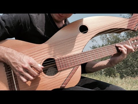 Pink FIoyd - Ls There Anybody Out There? - Harp Guitar Cover - Jamie Dupuis