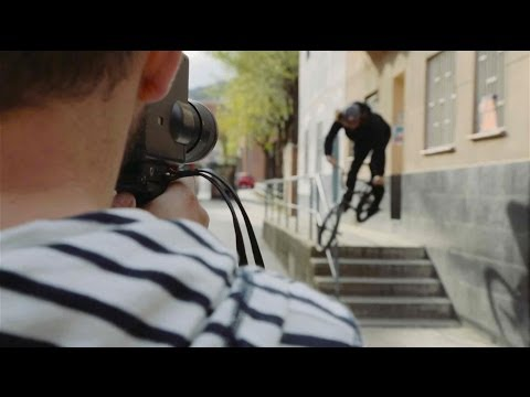 Behind the Lense - Filming BMX street riding on 8mm camera