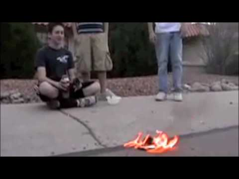 """Mega Secrets"" Homemade Flamethrower Music Video"