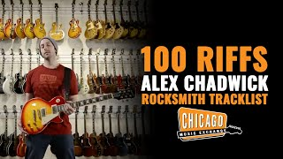 Alex Chadwick, from 100 Riffs, A Brief History Of Rock N' Roll, plays through the Rocksmith 2014 Edition tracklist playing each ...