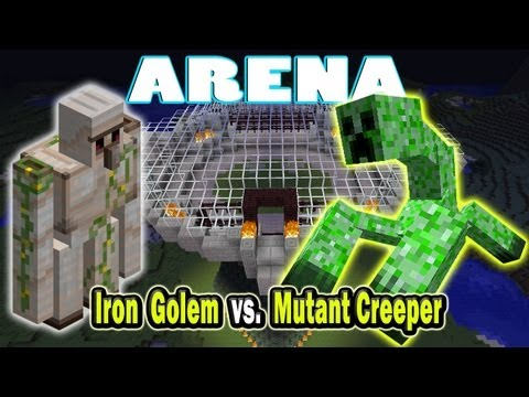 Minecraft Arena Battle Iron Golem vs. Mutant Creeper