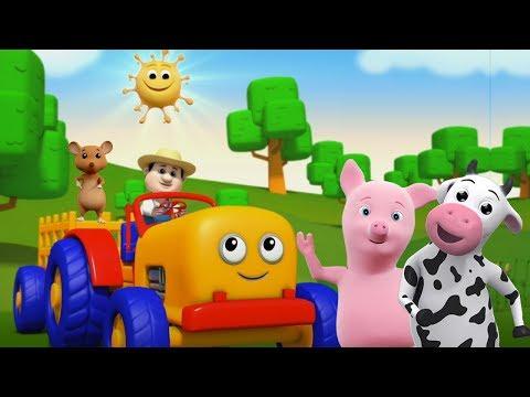 Traktorlied   Kinderreime für Kinder   lernen landwirtschaftliche Fahrzeuge   Tractor Song