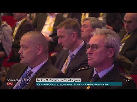 22. Europäischer Polizeikongress - Podiumsdiskussion am 20.02.19