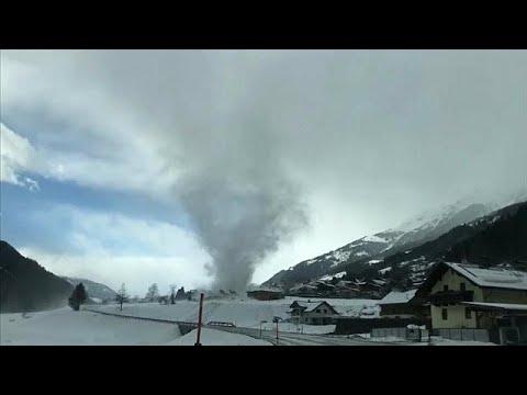 Wetterphänomen: Mini-Tornado in Österreich