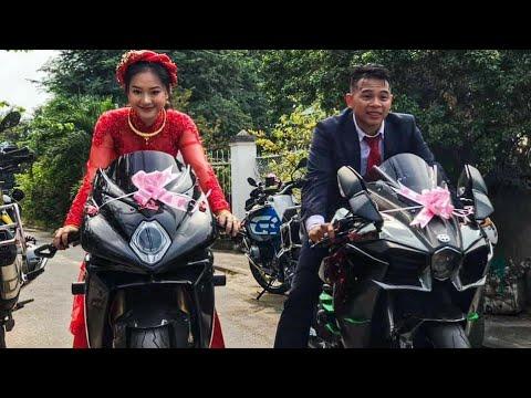 """Đám Cưới Khủng """" Chú Rể """"Hoàng Trần"""" Rước Dâu Bằng Màn moto Khủng tại Sài Gòn. - Thời lượng: 15:39."""