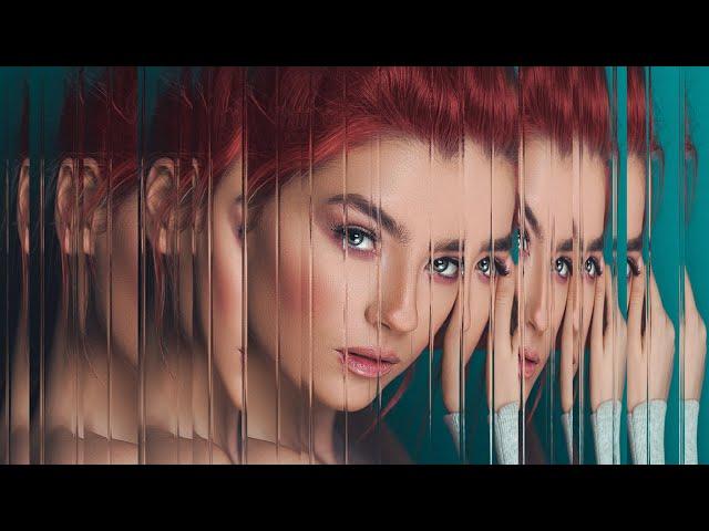 Портрет с эффектом стекла в Фотошоп/ Glass effect