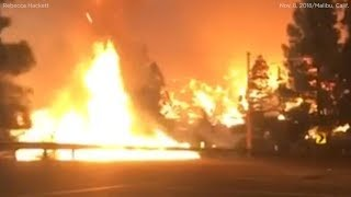 Video Woman captures dramatic video driving through flames while fleeing Woolsey Fire in Malibu | ABC7 MP3, 3GP, MP4, WEBM, AVI, FLV November 2018
