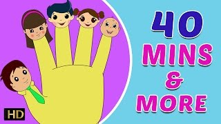 Finger Family (उंगली परिवार) & Many More Hindi Nursery Rhymes Collection for Children (HD) | 40 Mins
