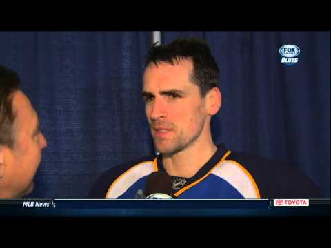 redden - Wade Redden interview with Bernie Ferderko 24 Jan 2013 St. Louis Blues NHL Hockey.