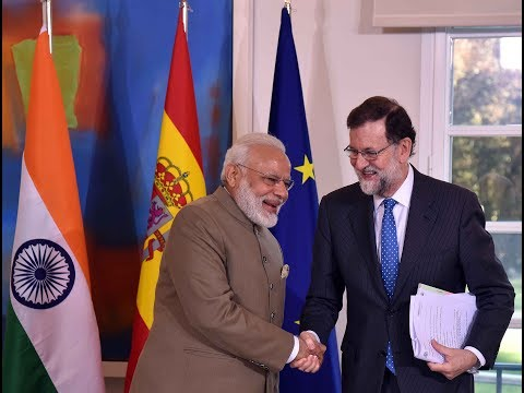 PM Modi holds talks with President Mariano Rajoy of Spain