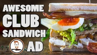 AWESOME CLUB SANDWICH   Cycling through London Food-Busker-style by Food Busker