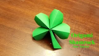 Origami 4 Leaf Clover - How to make a four leaf clover - Slow Tutorial