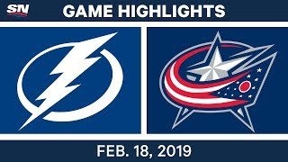 NHL Highlights | Lightning vs. Blue Jackets - Feb 18, 2019 by Sportsnet Canada