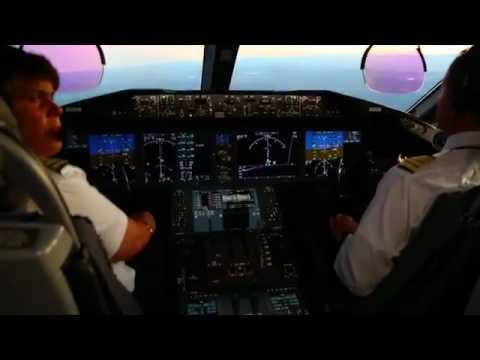 N787BX Startup and Takeoff from in the cockpit