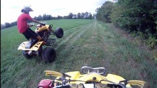 10. Honda 400ex vs Suzuki ltz400 drag race
