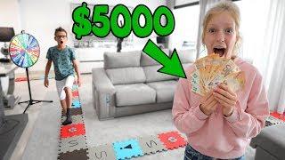 Video GIANT BOARD GAME!!! The Winner Gets $5000!!! MP3, 3GP, MP4, WEBM, AVI, FLV Agustus 2019