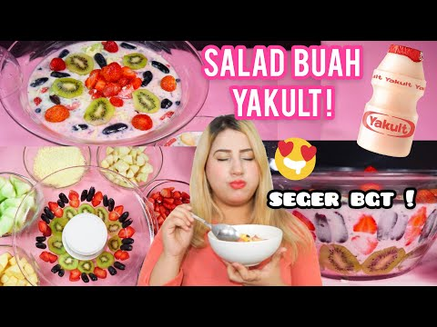 COOKING WITH TASYI : EP 12 - RESEP SALAD BUAH YAKULT - TERENAK !!! + ASMR