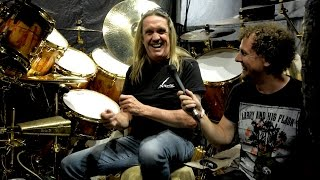 We caught up with Iron Maiden drummer Nicko McBrain shortly before he went onstage to play the band's sold-out Book Of Souls ...